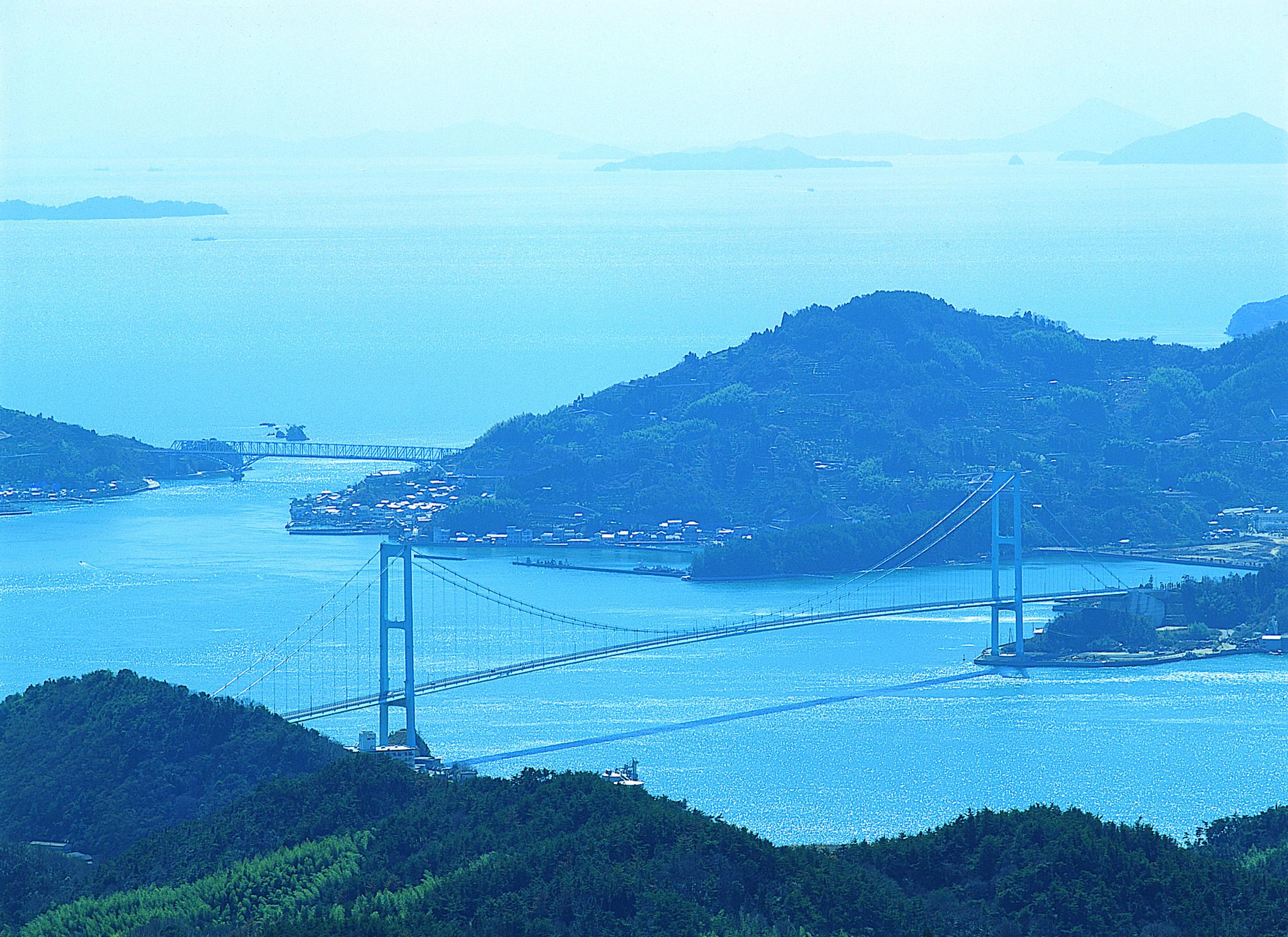 安芸灘大橋、蒲刈大橋と下蒲刈島